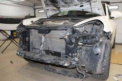 Замена радиатора кондиционера, заправка А/С и адаптация климат-контроля на Porsche Cayenne