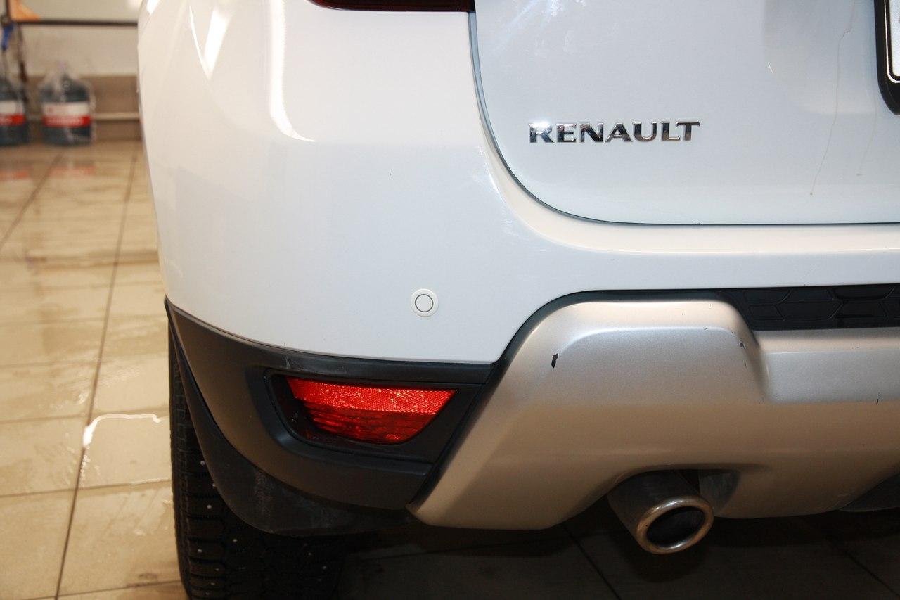 Установка датчиков парковки Parkmaster 4FJ40 на Renault Duster