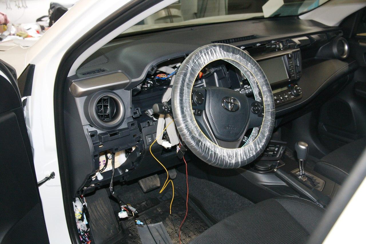 Установка противоугонного комплекса на Toyota Rav 4