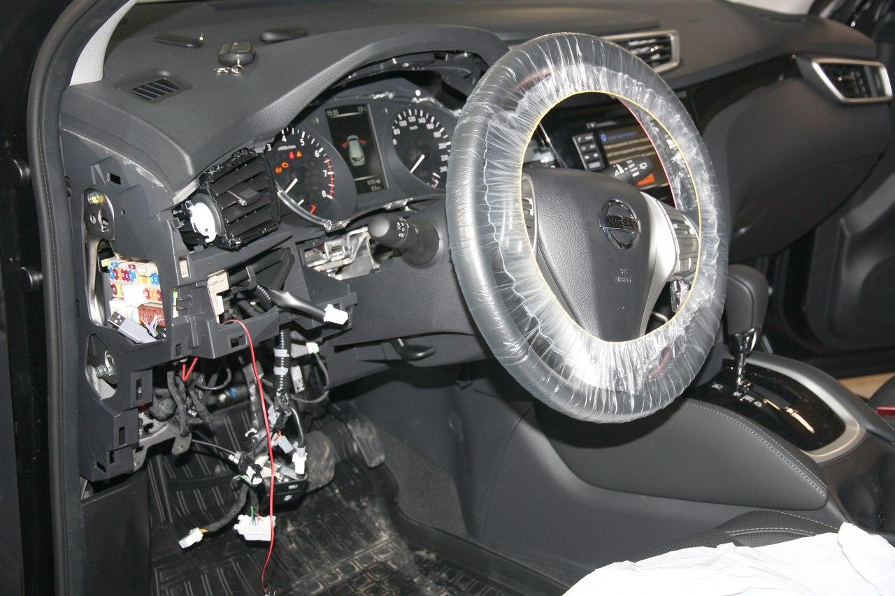 Установка сигнализации Pandora DX-90BT на Nissan Qashqai