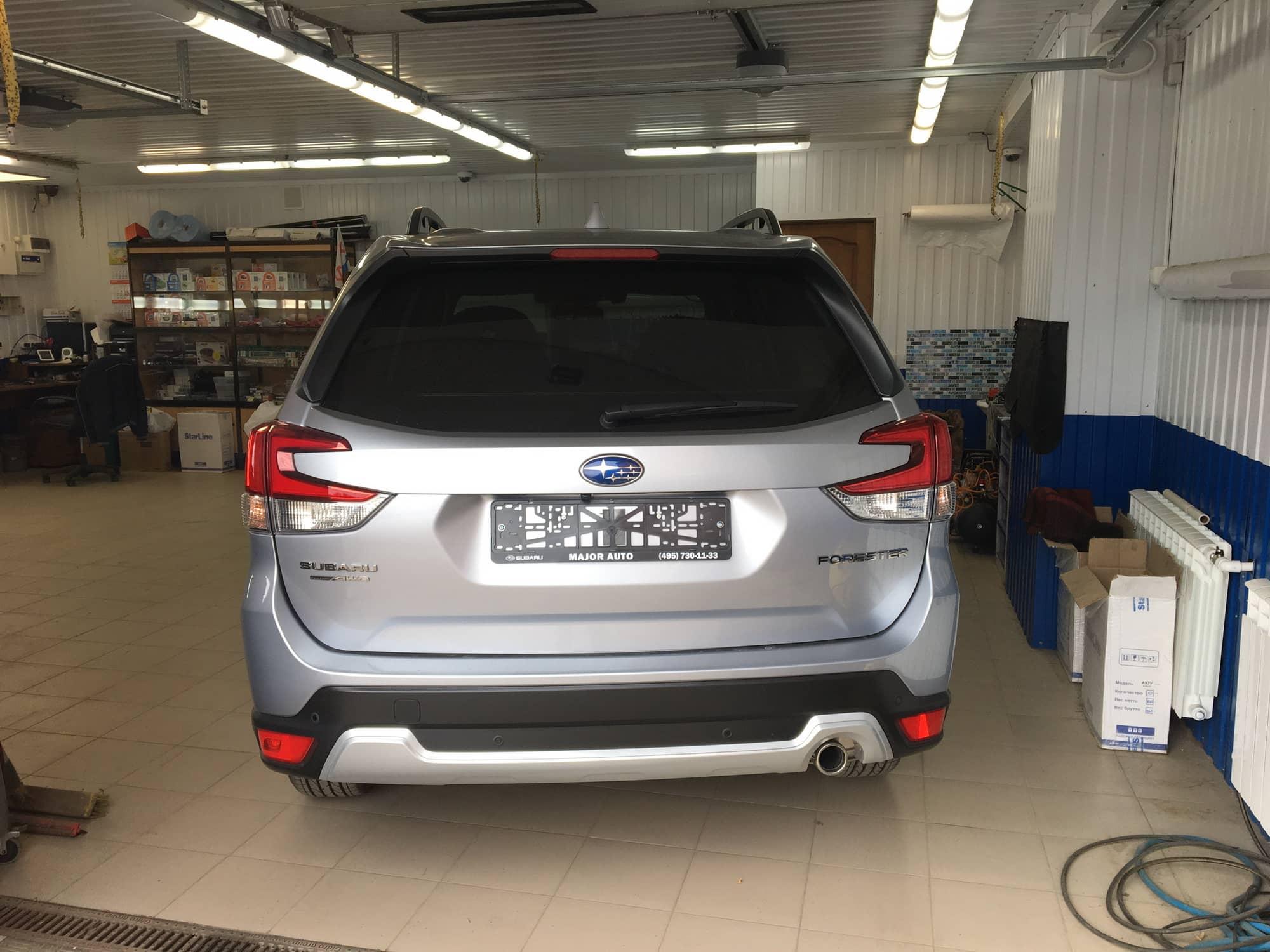 Установка сигнализации старлайн на Subaru forester