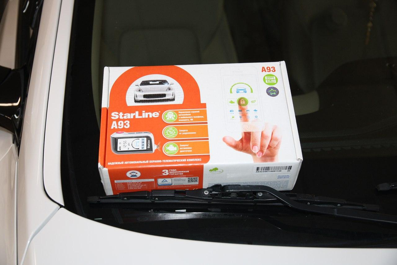 Установка сигнализации StarLine A93 2Can-Lin/GSM/GPS на Hyundai Santa Fe