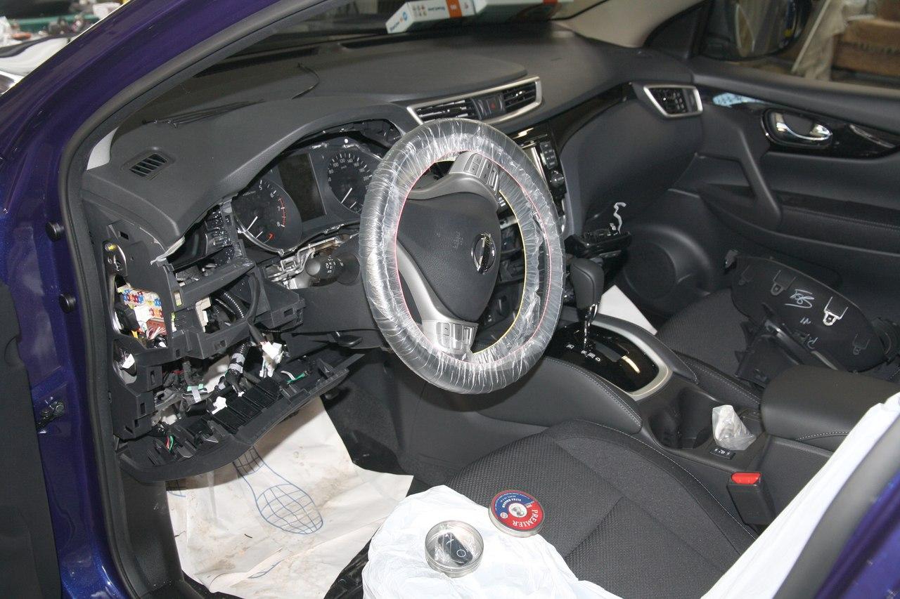 Установка сигнализации StarLine A93 2Can-Lin/GSM/GPS на Nissan Qashqai