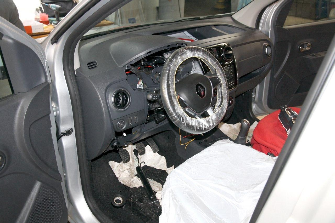 Установка сигнализации StarLine A93 2Can-Lin на Renault Dokker 2018