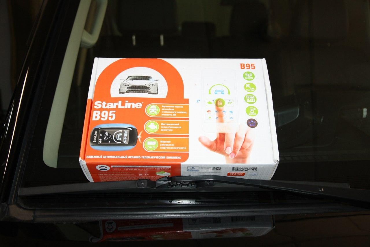 Установка сигнализации StarLine B95 2Can-Lin GSM/GPS на Mitsubishi Pajero 2015