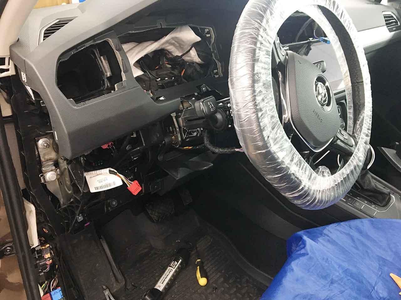 Установка Starline S96 GSM/GPS на VW Tiguan 2